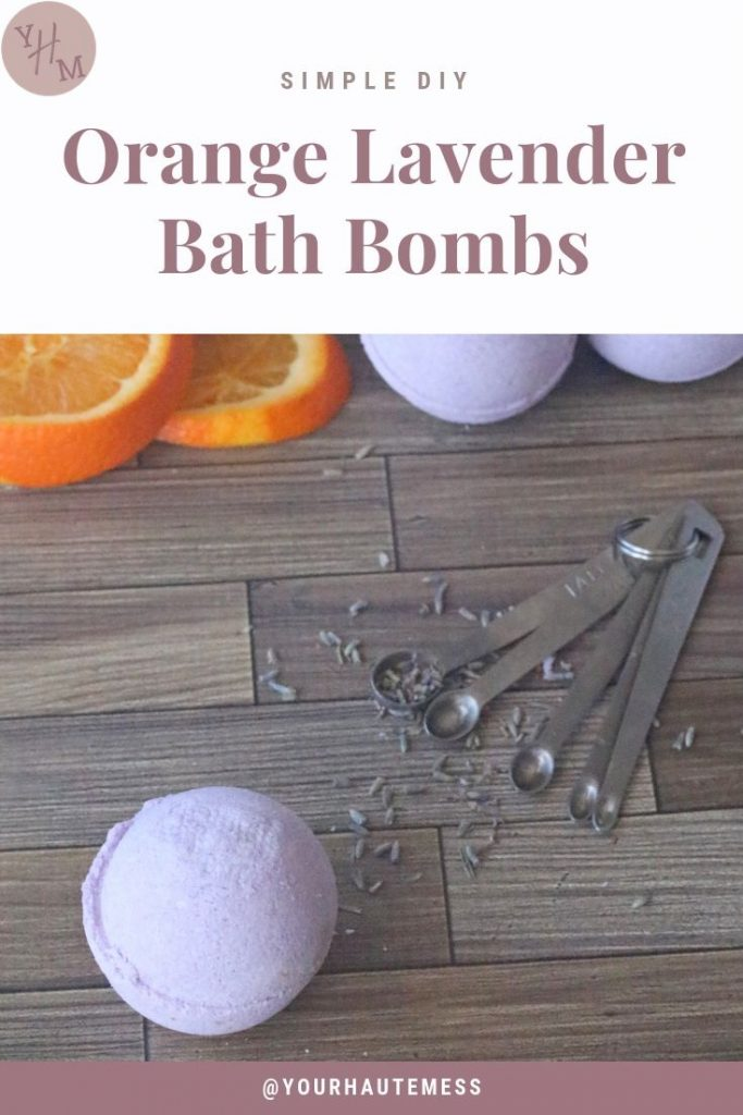 Orange Lavender Bath Bombs