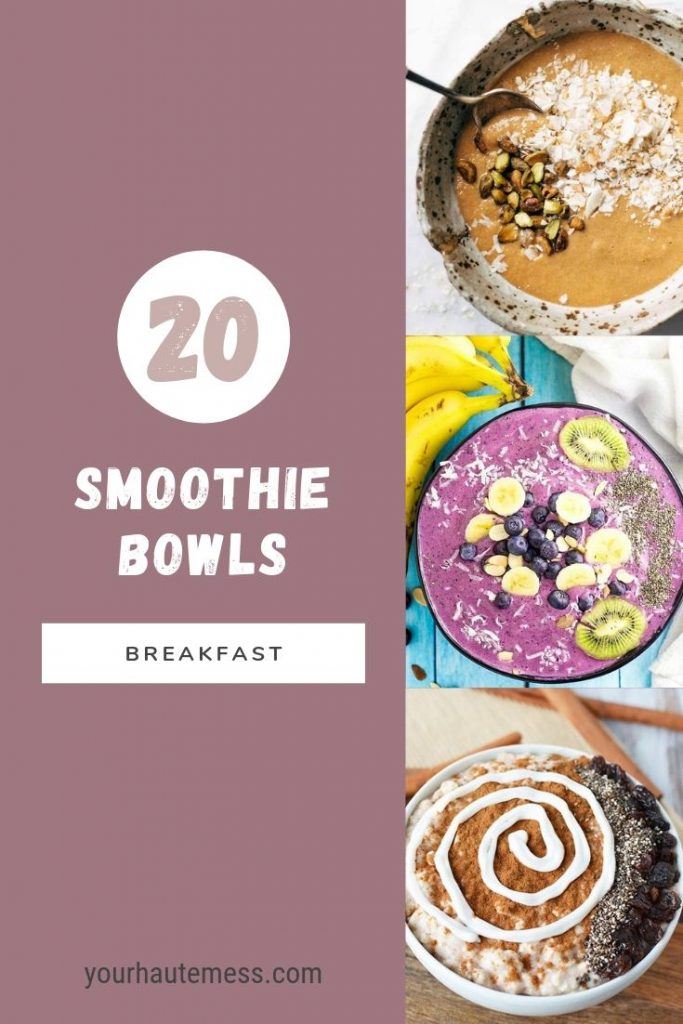 smoothie bowls for breakfast