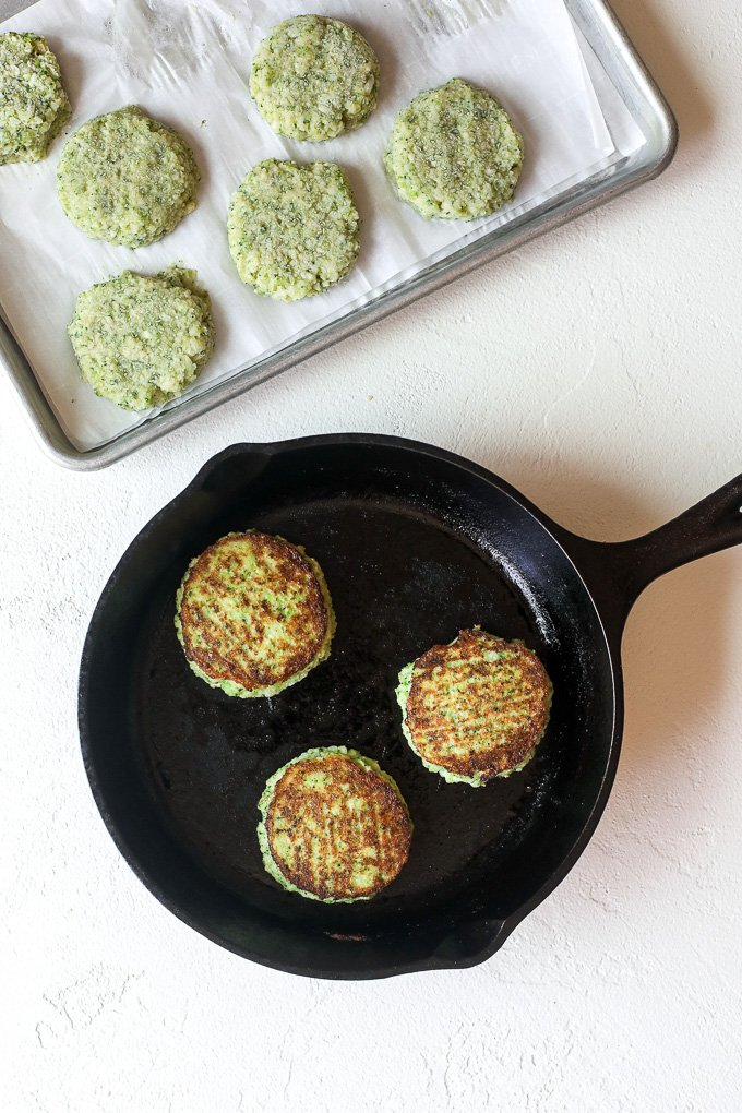 broccoli and cauliflower veggie patties from little bits of